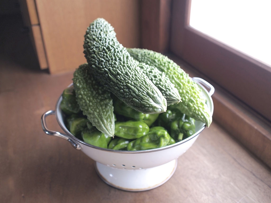 bitter gourds in a bowl